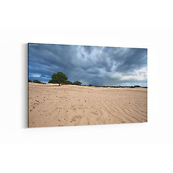 Malerei - Dunkle stürmische Wolken über Sanddünen — 90x60cm