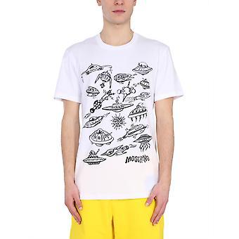 Moschino 072620401001 Herren's weiße Baumwolle T-shirt
