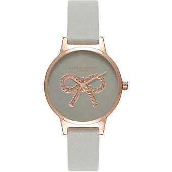 Olivia Burton OB16VB04 Vintage Bow Rose Gold & Grey Watch