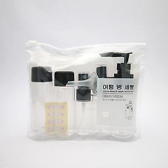 7kpl Mini Matkameikki Kosmetiikka, Kasvovoide, Ruukkupullot, Läpinäkyvä muovi