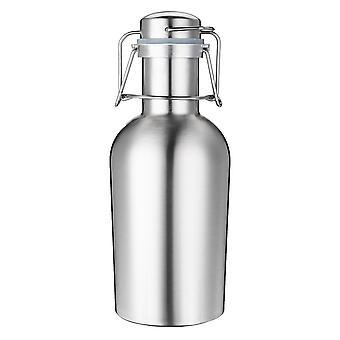 1L enkeltlag rustfritt stål B eer W-ine drikke pot flasker fat B-eer Pot