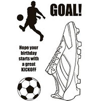 Woodware Clear Singles Футбол Boot 4 в х 6 в штамп
