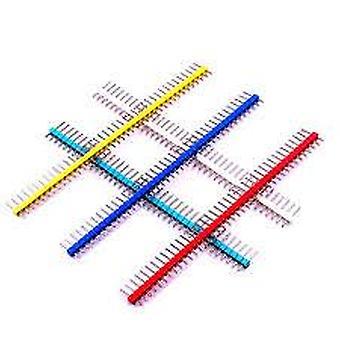 10pcs / mye 2.54mm 1x40 enkelt rad mannlig pin hvit header stripe