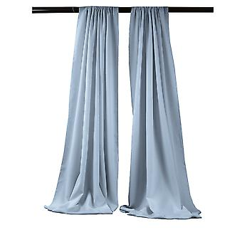 La Linen Pack-2 Polyester Poplin Backdrop Drape 96-Inch Wide By 58-Inch High, Light Blue