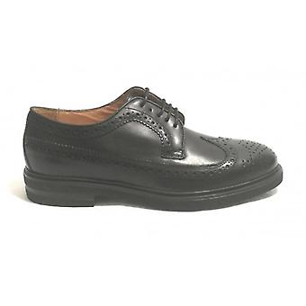 Brogue Men's Shoe Ancient Cuoieria Mod. Mount Leather Black Color U19ac03