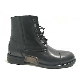 Men's Shoes Polish Horses Chelsea Leather Washed Black Hand Made U17ca02