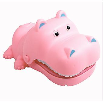 Interação hipopótamo de mordida manual pai-filho energia elétrica mordida hipopótamo extração de crianças 'brinquedo complicado