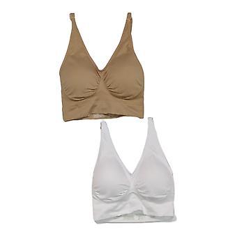 Rhonda Shear 3-pack Correa ajustable sin costuras Ahh Bra Beige 737165