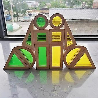 Montessori puinen aistinvarainen sateenkaarilohko