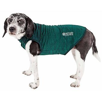 Haustier Leben aktiv 'Aero-Pawlse' Heathered Quick-Dry und 4-Wege-Stretch-Performance Hund Tank Top T-Shirt, grün - X-Large