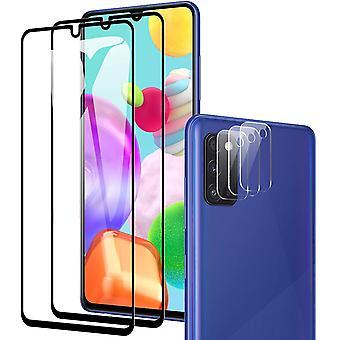 HaiFei fr Samsung Galaxy A41 Panzerglas(2 Stck) + Kamera Panzerglas(3 Stck),9H Hrte/Bubble