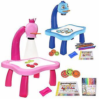 子供たちはプロジェクターアートドローイングテーブルおもちゃキッズペインティングボードデスクアーツとクラフトプロジェクション教育学習ギフトおもちゃを導いた