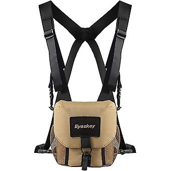 Eyeskey universal binocular bag/case with harness durable portable binoculars camera chest pack bag for hiking hunting