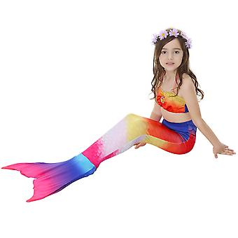 Swimsuit mermaid swimwear children's tail  three-piece girl mermaid swimwear