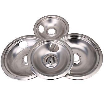 4 x brenner drypp panne boller sett 5304430149 5304430150 rustfritt stål sett
