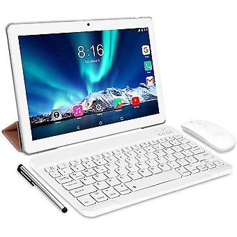 FengChun Tablet Android 10.0 - Tablets 10 Zoll 4 GB/RAM, 64 GB/ROM Tablet PC Octa Core, Dual SIM, WiFi