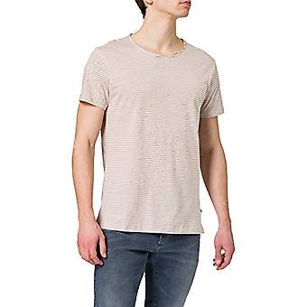 LTB Jeans Remibo T-Shirt, Rose Dust White Stripes 12331, M Men's