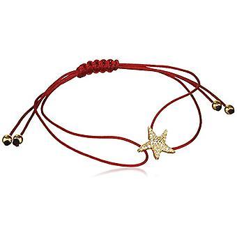 MISIS, Woman-Bracelet Isla de Mujeres Silver 925 White Zircons 1.3 cm - BR07413, Red