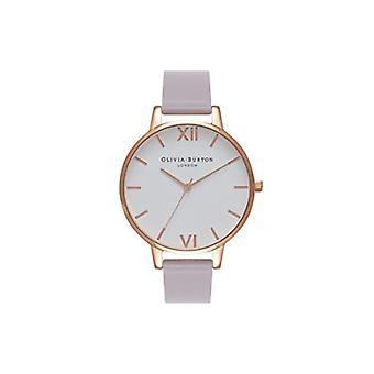 Olivia Burton analoge quartz horloge vrouw met lederen riem OB16BDW16