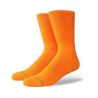 Stance Icon Crew Socks in Orange