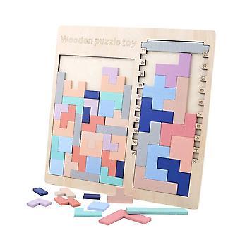 3 W 1 Kolorowe Drewniane Gry Przedszkole Magination Intelektualnej Edukacyjne Dziecko Zabawki | Bloki