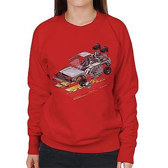 Back to the Future Delorean 3D Women's Sweatshirt