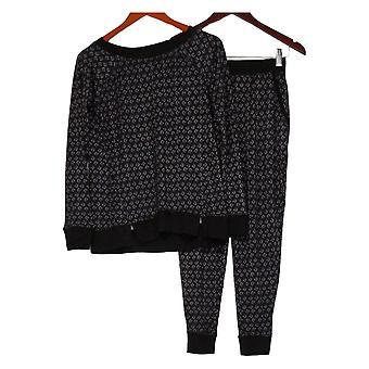 Carole Hochman Women's XS Petite Marshmallow Jersey Pajama Set Black A311253