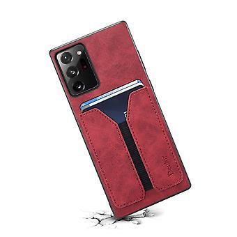 Étui de fente pour carte portefeuille en cuir pour samsung s10 rouge pc857