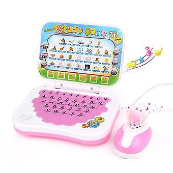 Pink kids tablet english learning tablet for kidseducational toy with great choice x4167