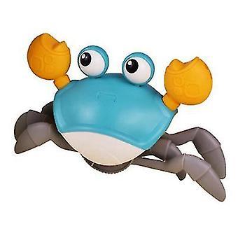 Green baby bath toy clockwork crab az6348