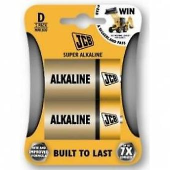 JCB D Super Alkaline Batteries 2 Pack  x 36
