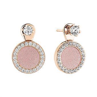 Boucles d'oreilles Zeades BULLES Rose RO - SER02022 Argent Rose