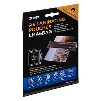 Texet Laminating Pouches A6 Pack of 25