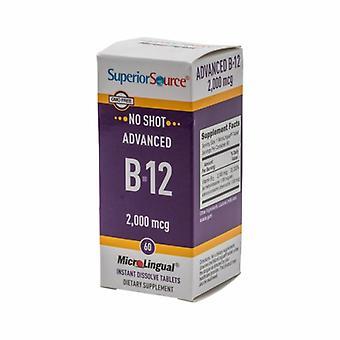 Superior Source Advanced B12, 2000 mcg, 60 Tabs
