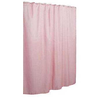Pink 180*180cm waterproof lattice dots jacquard shower curtain homi3929