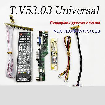 جديد عالمي LCD TV وحدة تحكم لوحة جهاز الكمبيوتر vga hdmi واجهة USB +7 مفتاح sm63721