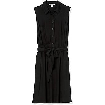 Essentials Damen ärmelloses gewebtes Hemdkleid