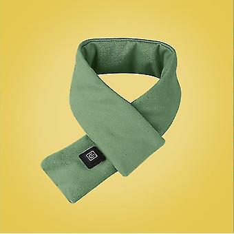 Nowy styl Pure Cotton Smart Ogrzewanie Szalik Usb Winter Warm Protect Kręgosłupa szyjnego (Zielony)
