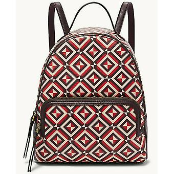 Fossil Felicity Backpack Red Multi SHB2347995 Brass Hardware