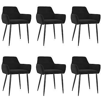 vidaXL dining chairs 6 pcs. Black Velvet