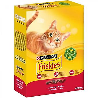 Friskies Croquettes - Beef, Chicken And Liver Taste - For Adult Cats - 400 G