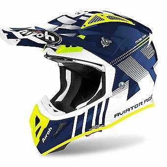 Airoh Aviator Ace Nemesi Motocross & ATV Helmet Blue/Gloss