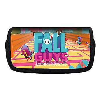 Jelly Bean Fall Guys Double Flap Pencil Case Polyester Enfant (Couleur-16)