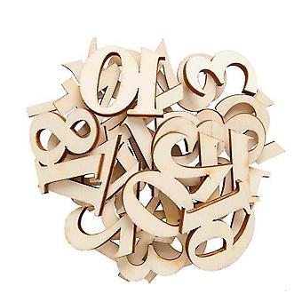 Números de Adviento de madera de madera de madera inacabada para las artesanías del calendario de Adviento