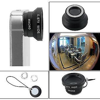 0,67 x abnehmbare Weitwinkel-Makrokamera Objektiv für Mobiltelefone iPhone