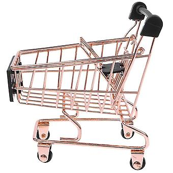 Mini Metal Miniature Shopping Cart Salesman Sample Kids Pretend Play Toy Room