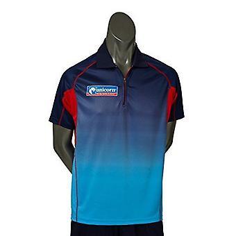 Licorne Fléchettes Pro Dart Shirt Players Sports Cousu Cool Mesh Zippped Collar Top