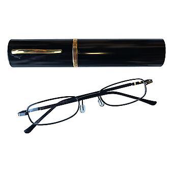 Duga Läsglasögon 2.5 med fodral svart