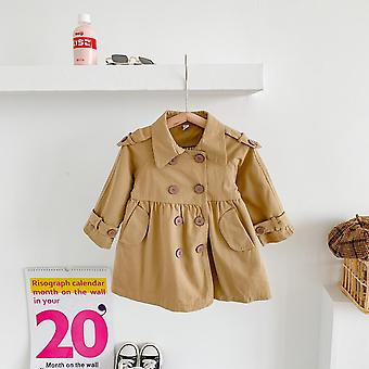 Fall 2021 New Girls Fashion Doll Trench Coat Baby Girl Jacket  Fall Clothes For Kids Fashion Autumn Toddler Girl Jacket