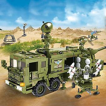 1196pcs Sistema di difesa aerea Missile Car Modello Building Blocks Armi militari Veicolo Esercito